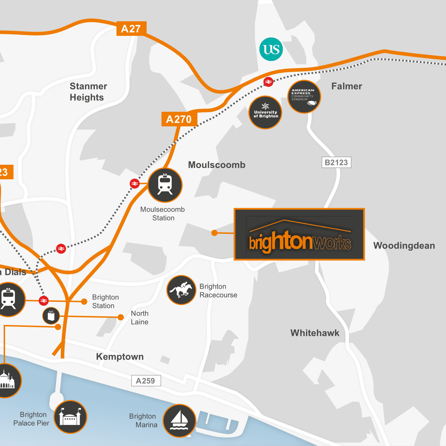 Brighton Works Map